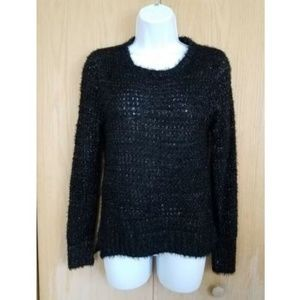 RAMPAGE Ultra Soft Black Crochet Sweater Small